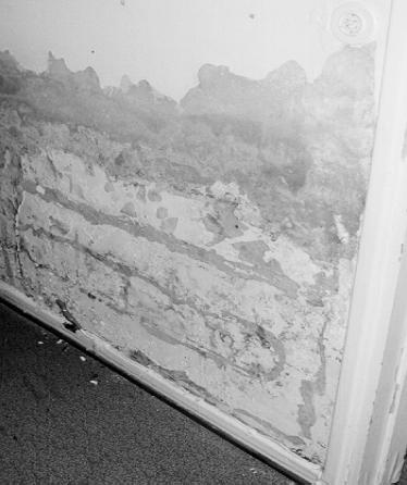 Kosteus betoniseinässä